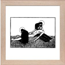 Pieta Signed - Ready Framed